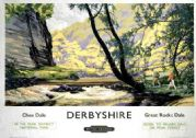 Derbyshire, Chee Dale Great Rocks Dale British Railways Travel Poster Print